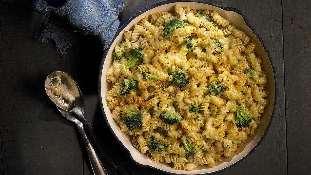 Tirabuzones de Brócoli & Queso