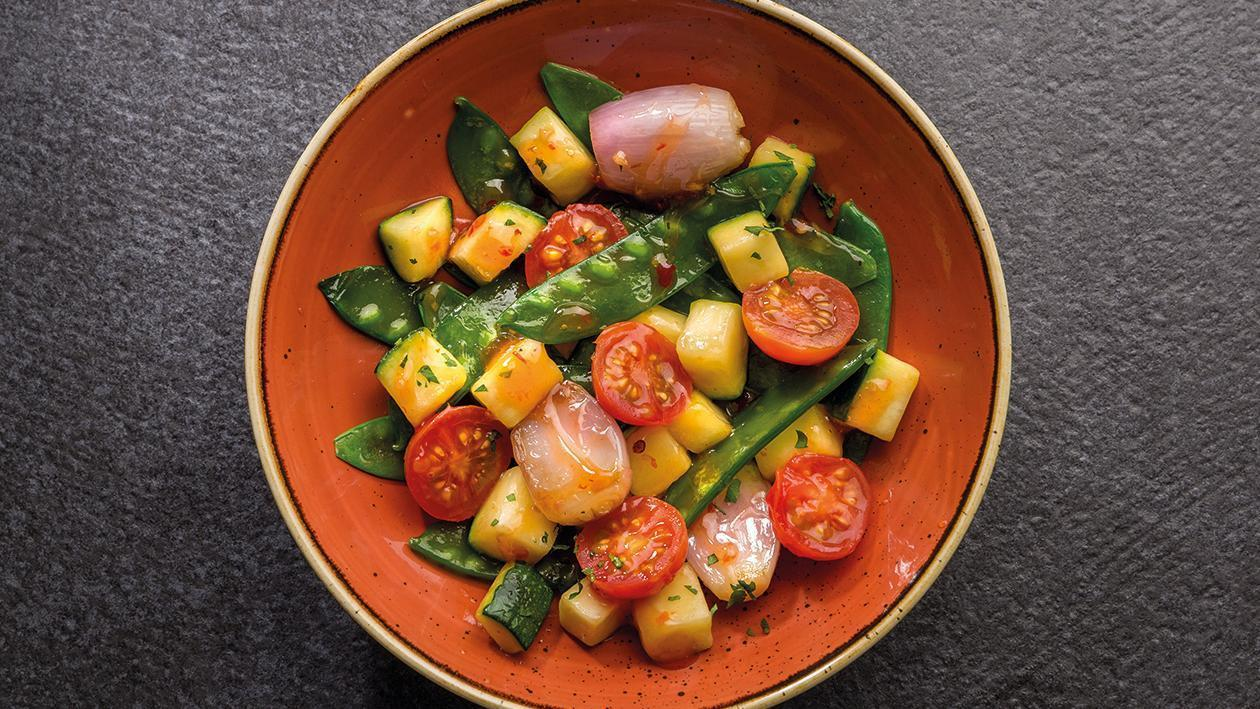 Verduras salteadas mediterraneas
