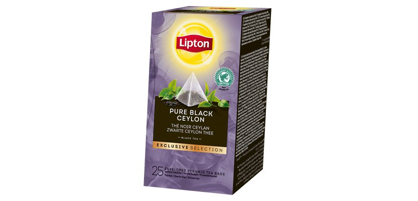 LIPTON TEA BLACK PURE CEYLON 25BLS