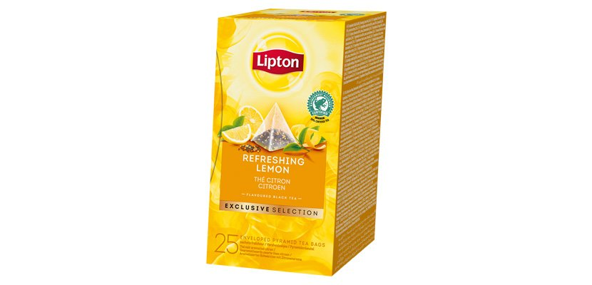 LIPTON TEA BLACK REFRESHING LEMON 25BLS
