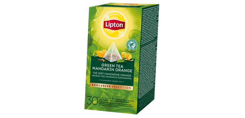 LIPTON TEA GREEN MANDARIN-ORANGE 30BLS -