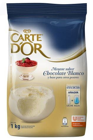 Mousse Chocolate Blanco Carte D'or 1KG
