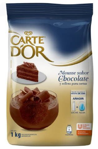 Mousse Chocolate Carte D'or 1KG -
