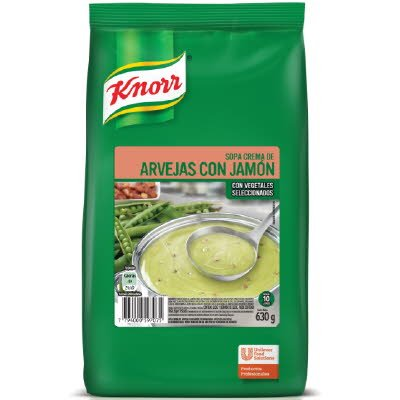 Sopa Crema Arveja c/ Jamon Knorr 630G -