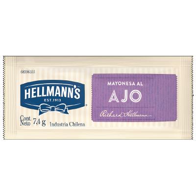 Hellmann's Mayonesa al Ajo 7.4g (xCaja de 528u) - Salsas Listas Hellmann's, la línea de aderezos para tu cocina.