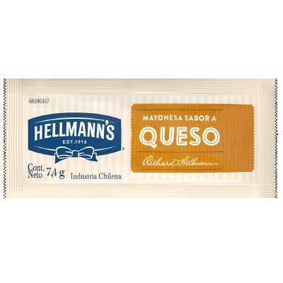 Hellmann's Mayonesa sabor a Queso 7.4g (xCaja 528u) - Salsas Listas Hellmann's, la línea de aderezos para tu cocina