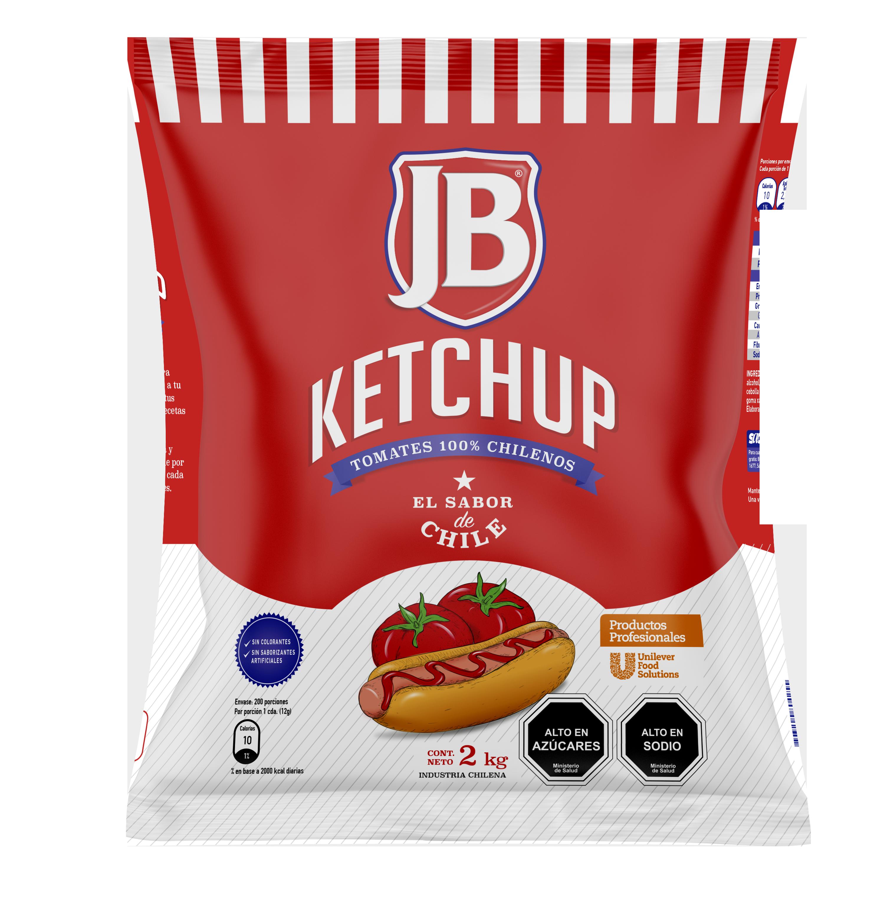 Ketchup JB 2KG - Ketchup JB, el sabor de Chile!