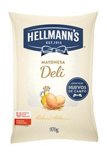 Mayonesa Deli Hellmann´s 970G - Mayonesa Deli, el sabor irresistible de Hellmann´s contiene huevos de campo y nuestros mejores aceites