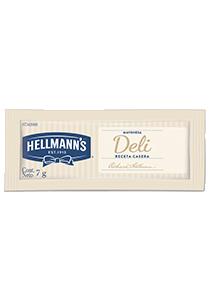 Mayonesa Hellmann's Deli porciones 7g (x CAJA 528u) - Mayonesa Deli, el sabor irresistible de Hellmann´s contiene huevos de campo y nuestros mejores aceites