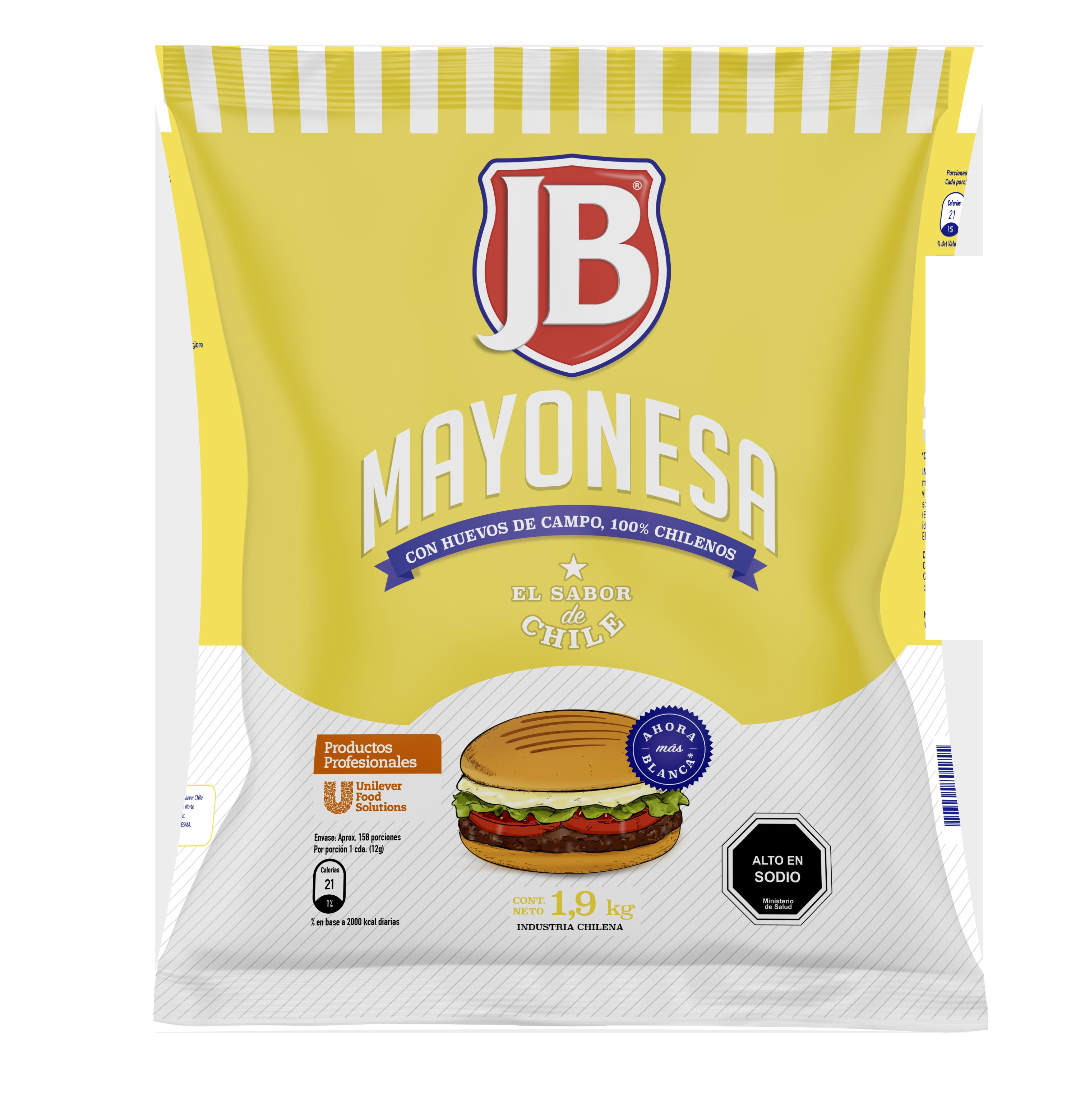 Mayonesa JB 1.9KG - Mayonesa JB, el sabor de Chile!