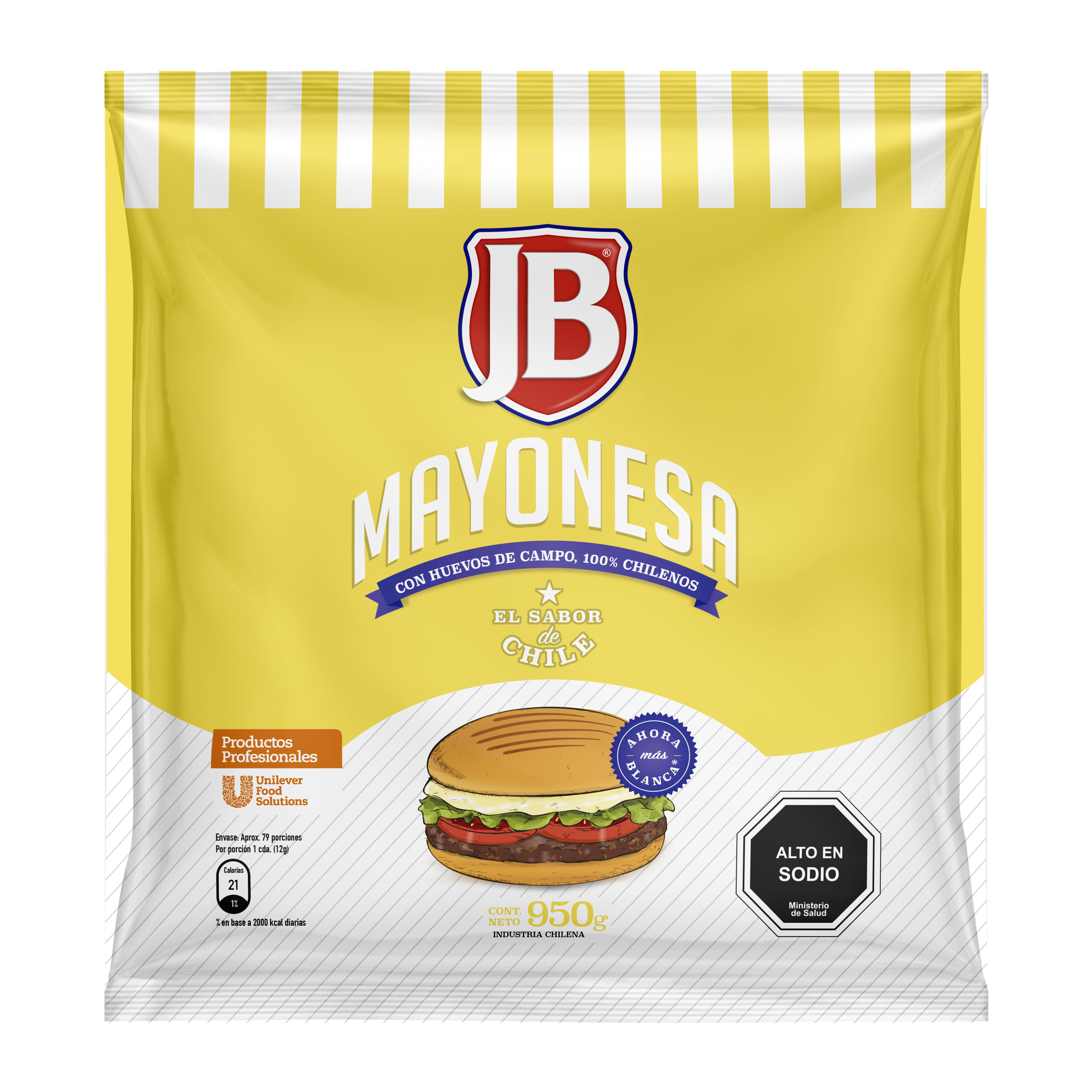 Mayonesa JB 950G - Mayonesa JB, el sabor de Chile!