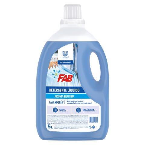 Detergente Líquido FAB PRO 5L - Detergente líquido enzimático de baja espuma con excelente desempeño y rendimiento
