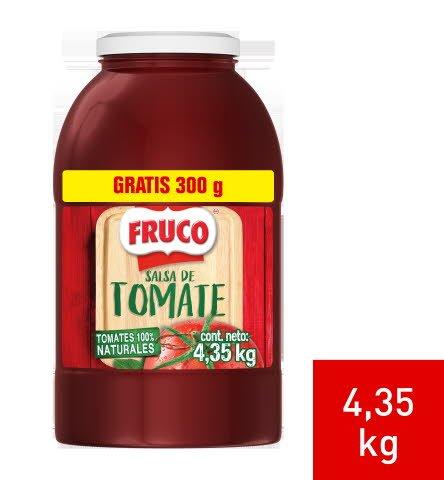 Fruco® Salsa de Tomate Galón / 300 gramos gratis - Fruco® Salsa de Tomate Galón es el auténtico sabor con trozos de tomate y color natural. ¡Pídela ya mismo en la tienda online de UFS!