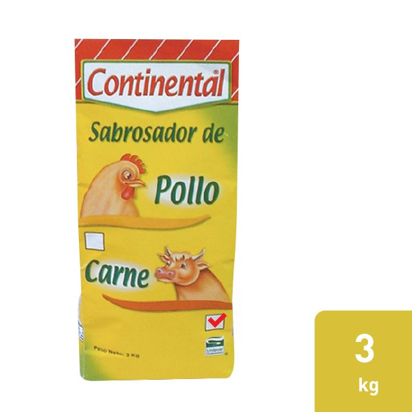 Continental® Sabrosador con Sabor a Carne 4 X 3 kg -
