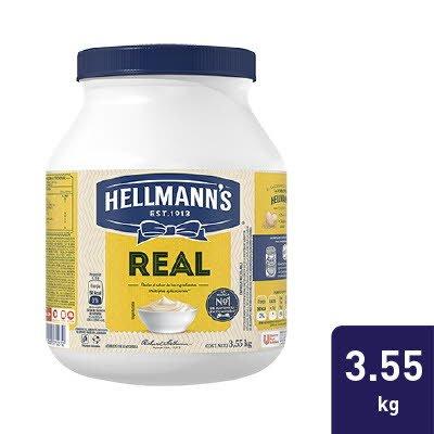 Hellmann's® Mayonesa Real 3,55 kg - Hellmann's® Real realza el sabor de los ingredientes en tus preparaciones y tiene un excelente desempeño culinario.