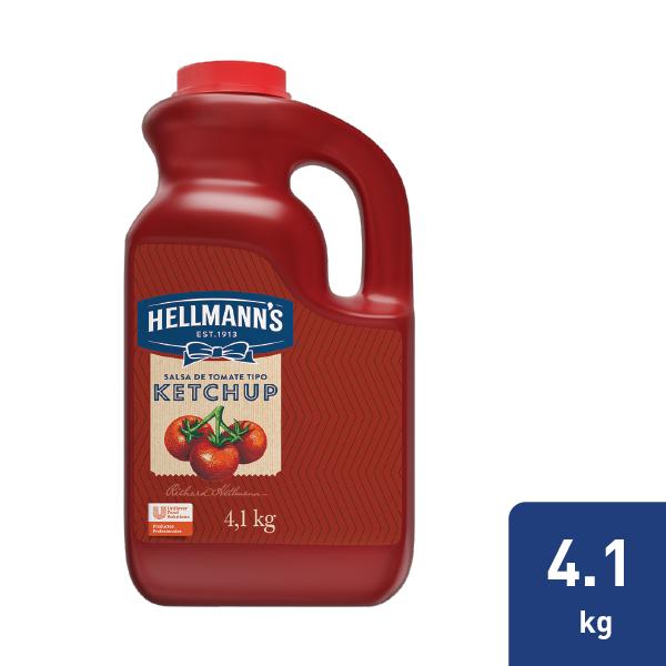 Hellmann´s® Salsa de Tomate tipo Ketchup - Con Hellmann's ketchup galón yo no tendrás de que preocuparte, sabías que un galón contiene 100 tomates.