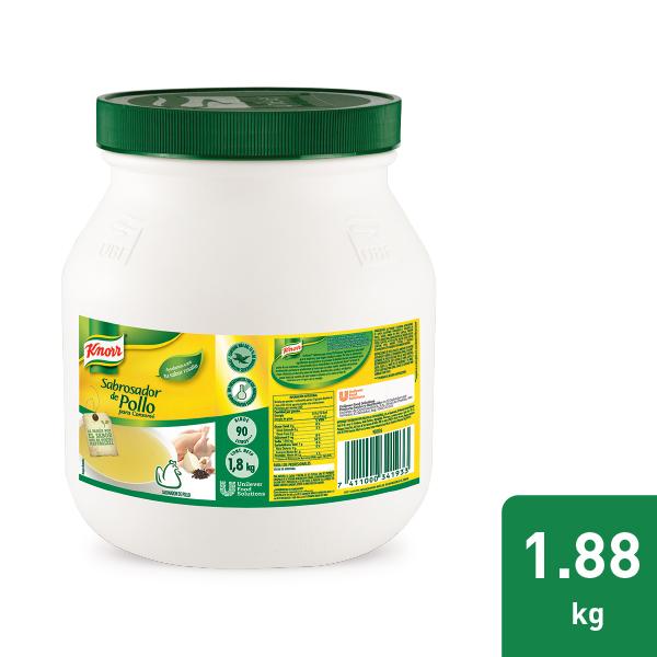 Knorr® Sabrosador de Pollo 1.88kg - Intensifica el sabor de tus platillos con Knorr® Sabrosador de Pollo. Especialmente diseñado para resaltar el sabor natural de las carnes blancas.