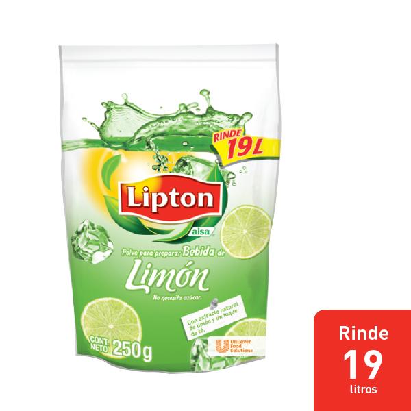 LIPTON® POLVO PARA PREPARAR BEBIDA DE LIMON - Aguas Lipton® gran sabor y rendimiento dentro de mi menú.