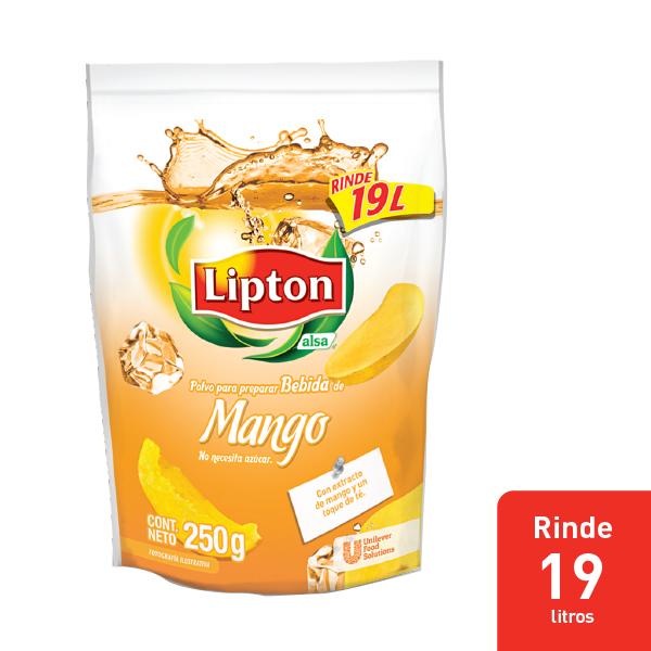 LIPTON® POLVO PARA PREPARAR BEBIDA DE MANGO - Aguas Lipton® gran sabor y rendimiento dentro de mi menú.
