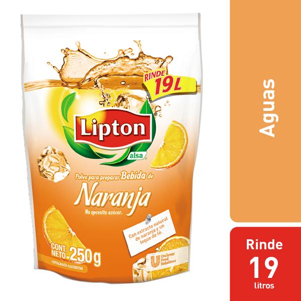 LIPTON® POLVO PARA PREPARAR BEBIDA DE NARANJA - Aguas Lipton® gran sabor y rendimiento dentro de mi menú.
