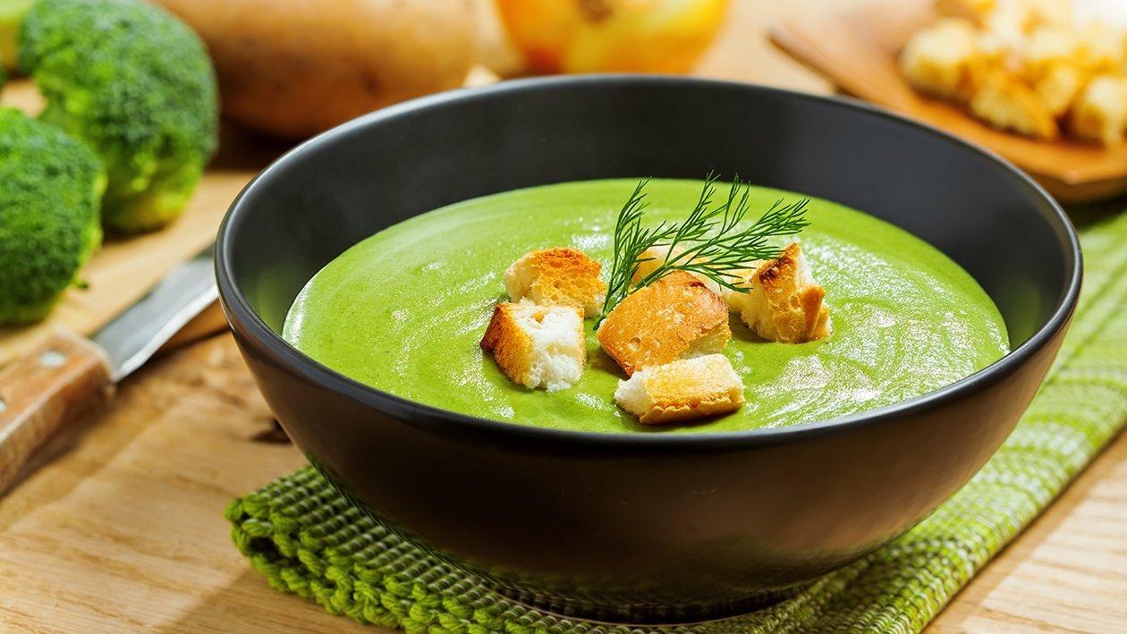 Crema de brócoli con cheddar