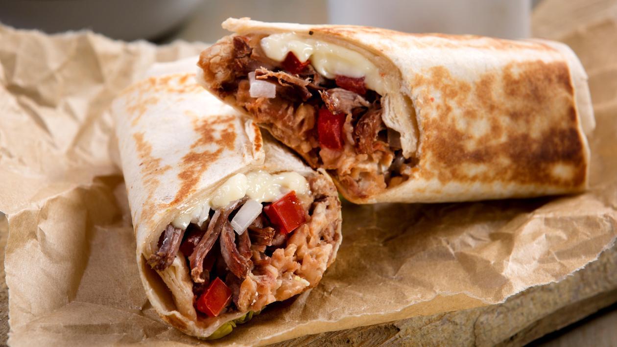 Wrap tipo burrito