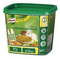 Knorr Sopa de Pollo Con verduras deshidratada bote 500g