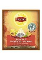 Té Negro Lipton Melocotón y Tropical Mango, Caja con 25 sobres