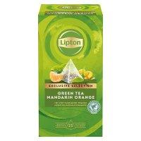 Té Verde Lipton Mandarina y Naranja, Caja con 25 sobres
