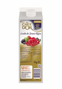 Coulis de Frutos rojos Carte d'Or brik 1Kg