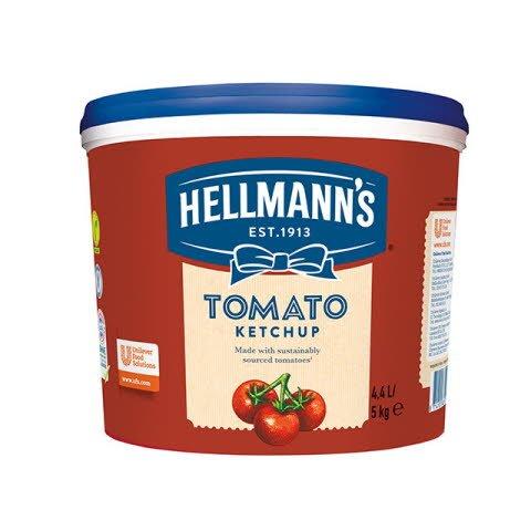 Ketchup Hellmann's cubo 5Kg Sin Gluten -