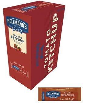 Ketchup Hellmann's monoporciones 10ml. Caja de 200 uds.