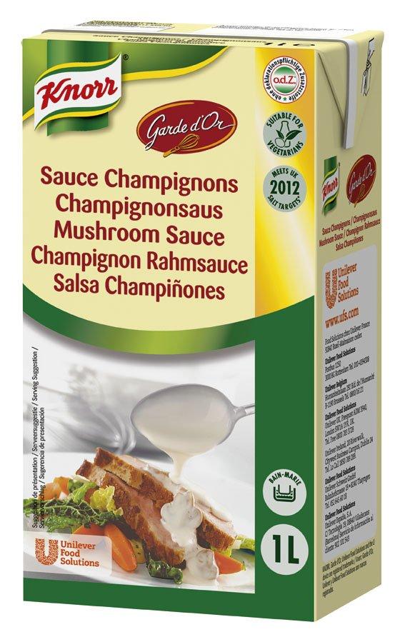 Knorr Garde D'Or Salsa Champiñones líquida lista para usar brik 1L