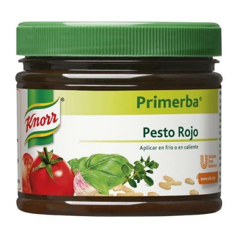 Knorr Primerba de Pesto Rojo bote de 340g Sin Gluten -