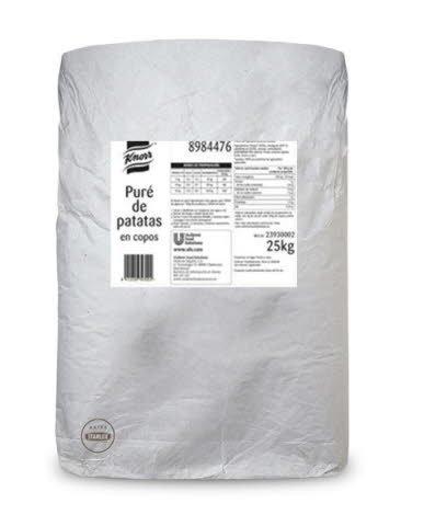 Knorr Puré de patatas copos saco 25Kg