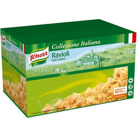 Knorr Ravioli con Carne Pasta rellena Caja 3 Kg -