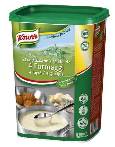 Knorr Salsa 4 Quesos para pastas deshidratada bote 775g