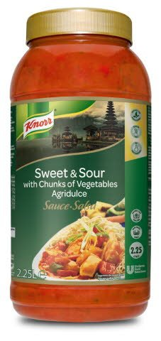 Knorr Salsa Agridulce líquida lista para usar Sin gluten bote 2,25L