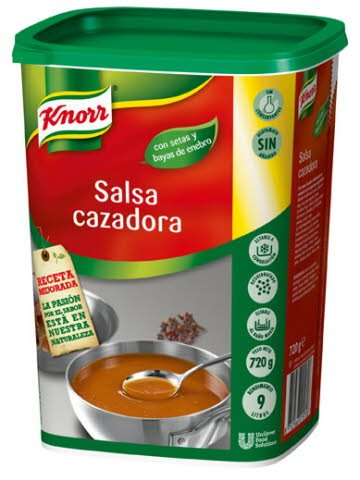 Knorr Salsa Cazadora deshidratada para carnes bote 720g -