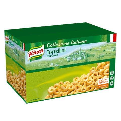 Knorr Tortellini con Carne Pasta Rellena Caja 3 Kg -