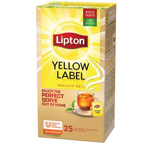 Lipton Té Yellow Label Tea Caja de 25 Sobres -