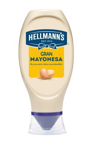 Mayonesa Hellmann's bocabajo 430ml Sin Gluten -