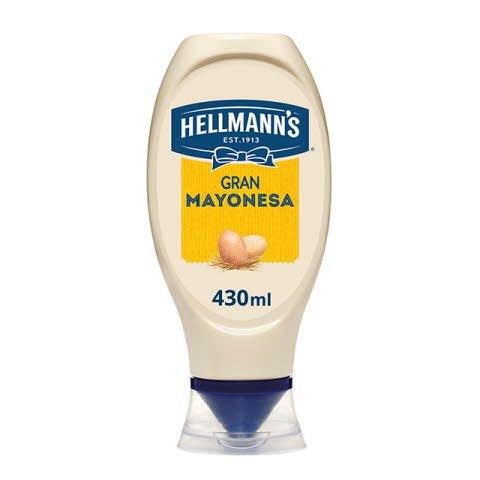 Mayonesa Hellmann's bocabajo 430ml Sin Gluten