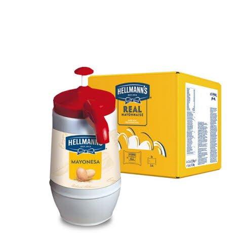 Mayonesa Hellmann's Dispensador 2,25KG Sin Gluten