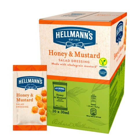 Monoporciones ensalada Hellmann's Mostaza y Miel Sin Gluten -