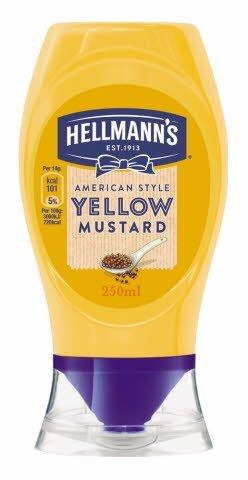 Mostaza a la americana Hellmann's bocabajo 250ml