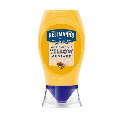 Mostaza a la americana Hellmann's bocabajo 250ml -
