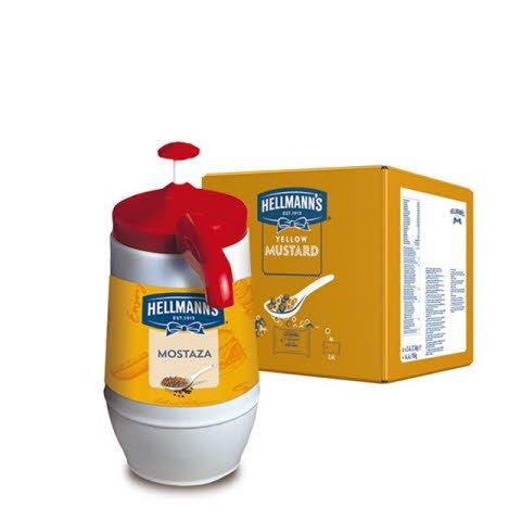Mostaza Hellmann's Dispensador 2,5KG Sin Gluten -