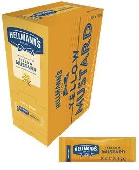 Mostaza Hellmann's monoporciones 10ml. Caja de 200 uds.