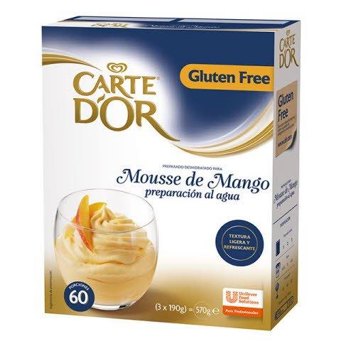 Mousse al agua Mango Carte d'Or 60 raciones Sin Gluten -
